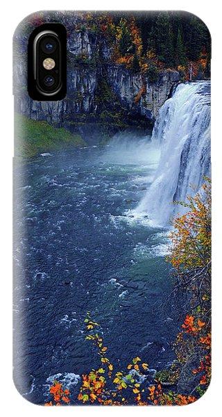 Mesa Falls In The Fall IPhone Case