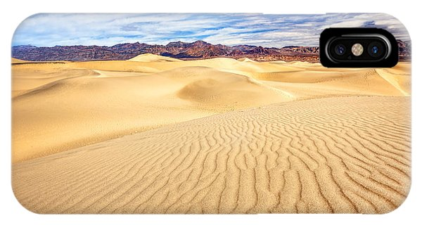 Mesquite Flat Sand Dunes In Death Valley IPhone Case