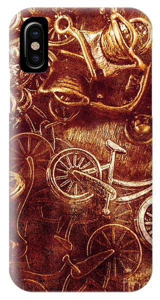 Toy Shop iPhone Case - Messy Bike Workshop by Jorgo Photography - Wall Art Gallery