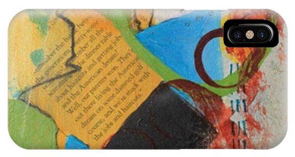 Word Art iPhone Case - Messy Circles Of Life- #alburtonart by April Burton