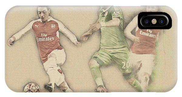 Wayne Rooney iPhone Case - Mesut Ozil by Don Kuing