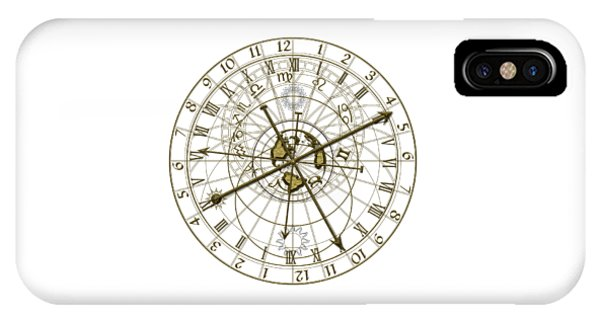 Nativity iPhone Case - Metal Astronomical Clock by Michal Boubin