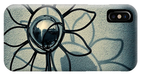 Mono iPhone Case - Metal Flower by Dave Bowman