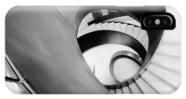 Metal Spiral Staircase London IPhone Case