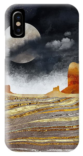 Abstract Landscape iPhone Case - Metallic Desert by Spacefrog Designs
