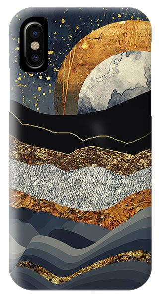 Abstract Landscape iPhone Case - Metallic Mountains by Katherine Smit