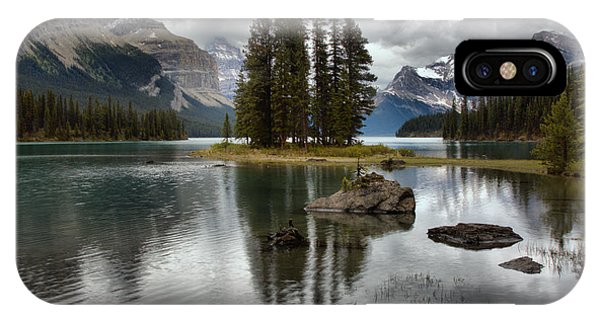 Rocky Mountain Np iPhone Case - Metallic Reflections At Spirit Island by Adam Jewell