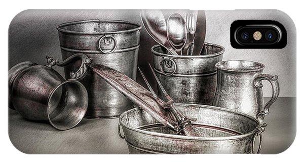 Stainless Steel iPhone Case - Metalware Still Life by Tom Mc Nemar