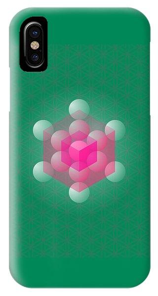 Metathron's Cube Phone Case by Selim Oezkan