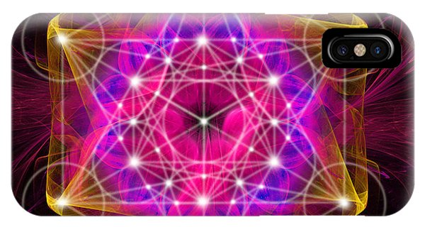 Metatron's Cube With Flower Of Life IPhone Case