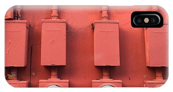 Meter Reader Red 2 IPhone Case