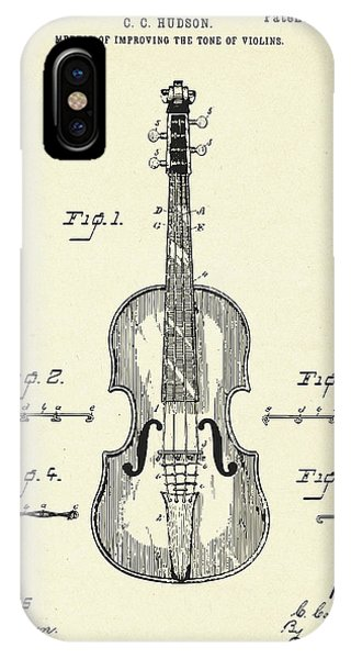 Violin iPhone X / XS Case - Method Of Improving The Tone Of Violins-1888 by Pablo Romero
