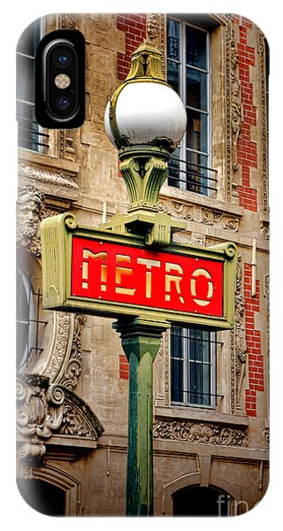 Paris Metro iPhone Case - Metro by Olivier Le Queinec