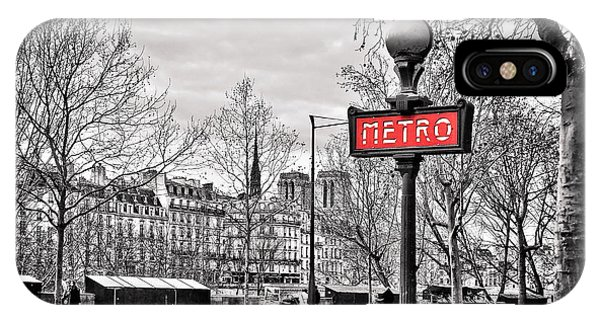 Paris Metro iPhone Case - Metro Pont Marie by Delphimages Photo Creations
