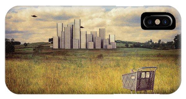 Saucer iPhone Case - Metropolis by Tom Mc Nemar