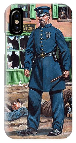 Metropolitan Police Officer 1863 Phone Case by Mark Maritato