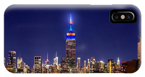New York City Skyline iPhone Case - Mets Dominance by Az Jackson