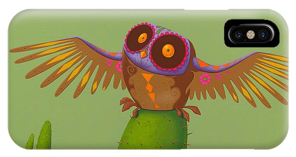 Figurative iPhone Case - Mexican Owl by Jasper Oostland