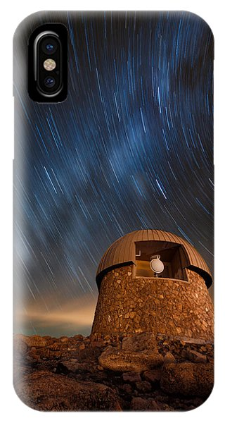 Fourteener iPhone Case - Meyer Womble Star Trails by Mike Berenson