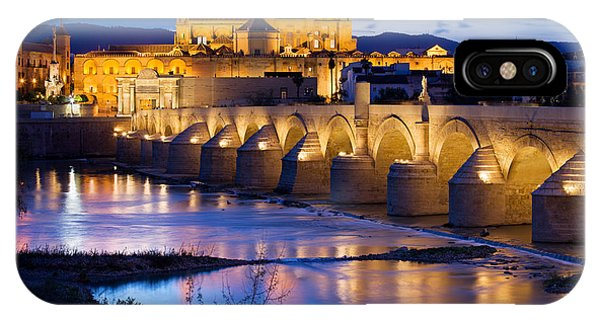 Cathedral Mosque And Roman Bridge In Cordoba IPhone Case