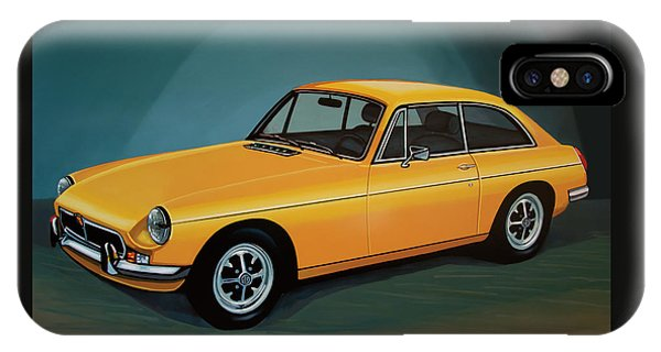 Mgb Gt 1966 Painting  IPhone Case