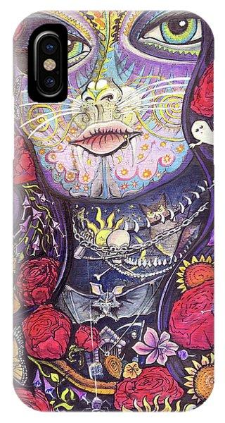 Mia De Los Muertos IPhone Case