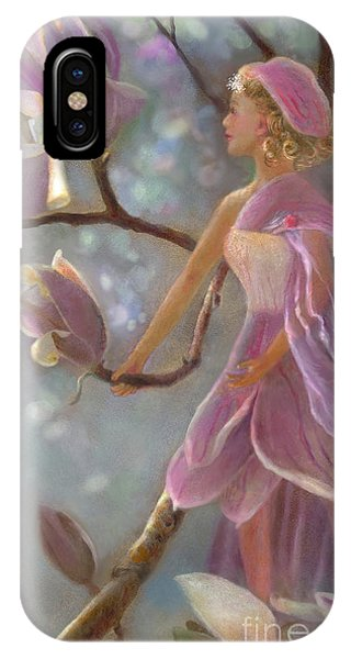 IPhone Case featuring the painting Mia Magnolia Fairy by Nancy Lee Moran