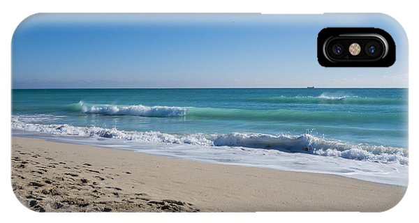 Miami Beach Blue Sky Blue Ocean IPhone Case