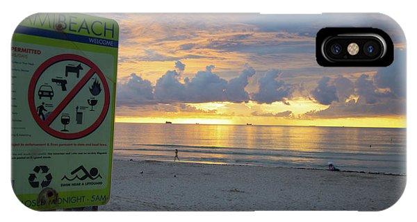 Miami Beach Sunrise IPhone Case