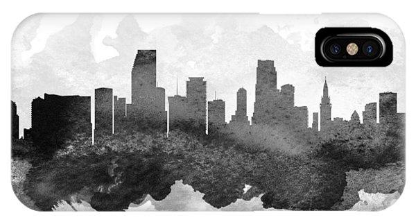 Miami Skyline iPhone Case - Miami Cityscape 11 by Aged Pixel