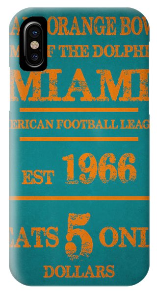 Dolphin iPhone Case - Miami Dolphins Sign by Joe Hamilton