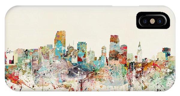 Florida iPhone Case - Miami Florida City Skyline by Bri Buckley