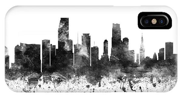 Miami Florida Cityscape 02bw IPhone Case