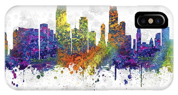 Miami Skyline iPhone Case - Miami Florida Skyline Color 03sq by Aged Pixel