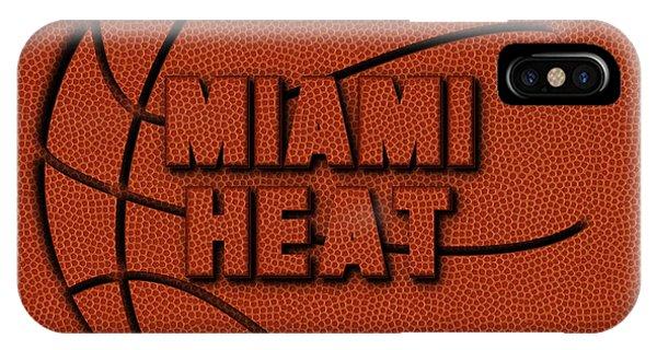 Miami Heat Leather Art IPhone Case