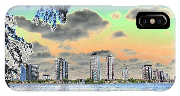 Miami Skyline Abstract IPhone Case
