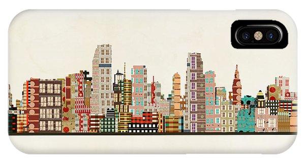 Florida iPhone Case - Miami Skyline by Bri Buckley