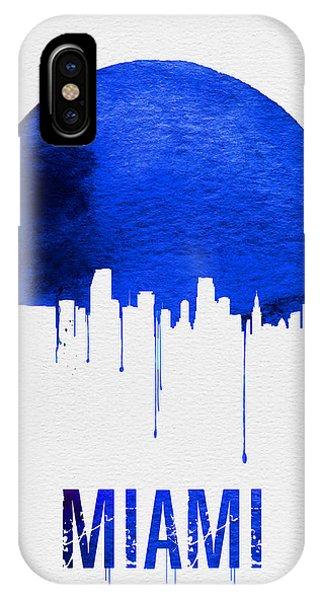 Miami Skyline iPhone Case - Miami Skyline Blue by Naxart Studio
