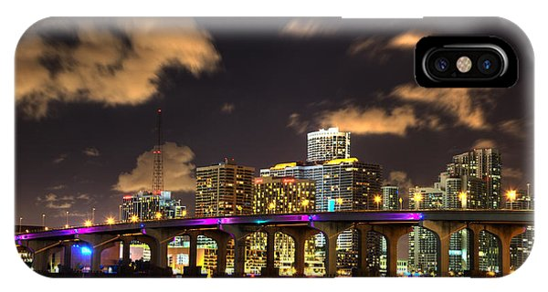 Miami Skyline IPhone Case