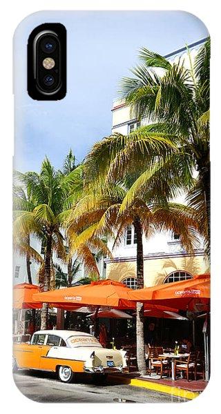 Miami South Beach Ocean Drive 8 IPhone Case