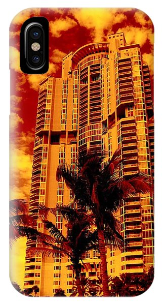 Miami South Pointe IIi Highrise IPhone Case