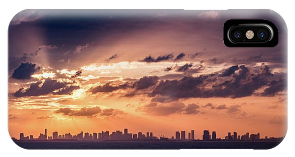Miami Sunset Pano IPhone Case