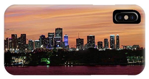 Miami Sunset Panorama IPhone Case