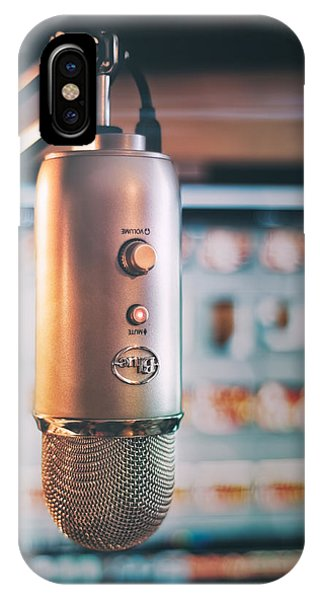 Indoors iPhone Case - Mic Check 1 2 3 by Scott Norris