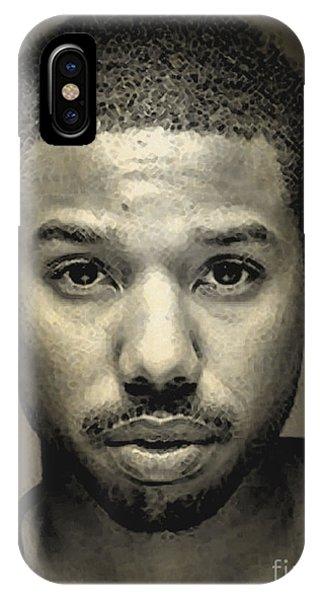 A Portrait Of Michael B. Jordan IPhone Case