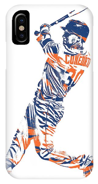 New York Mets iPhone Case - Michael Conforto New York Mets Pixel Art 1 by Joe Hamilton