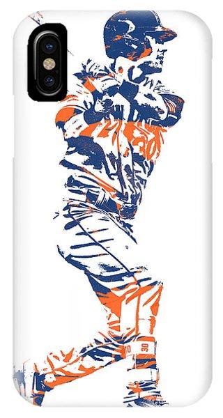 New York Mets iPhone Case - Michael Conforto New York Mets Pixel Art 2 by Joe Hamilton