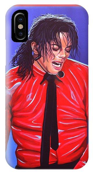 Popstar iPhone Case - Michael Jackson 2 by Paul Meijering