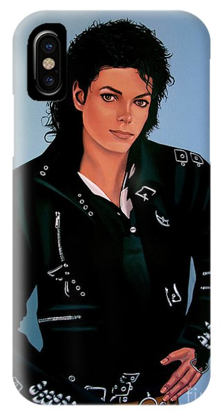 Popstar iPhone Case - Michael Jackson Bad by Paul Meijering