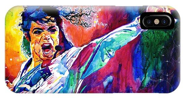 Michael Jackson iPhone Case - Michael Jackson Force by David Lloyd Glover